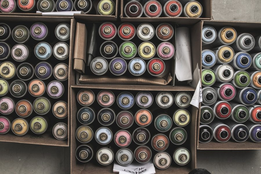 recyclage bombe peinture
