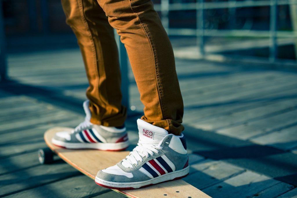 chaussure avec de la peinture