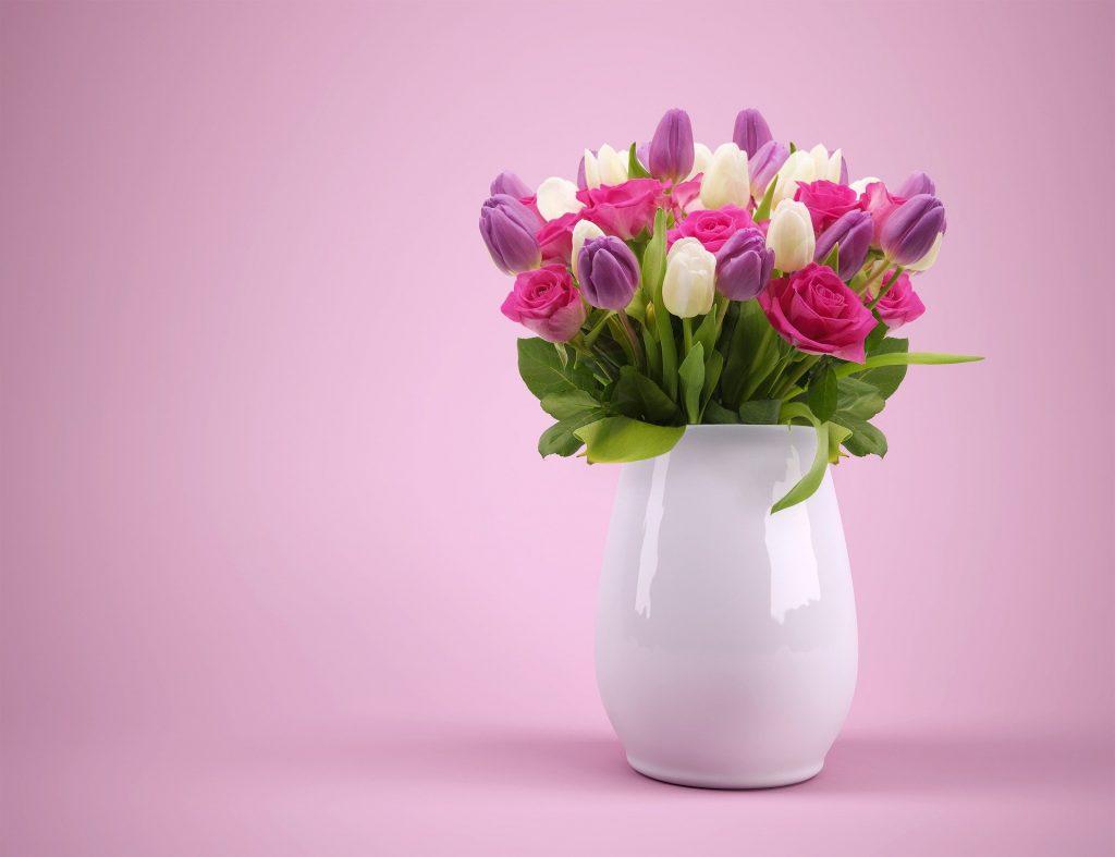 pot de fleur blanc