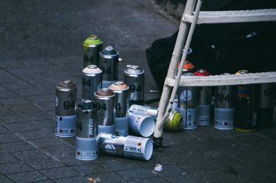 les bombes de peinture