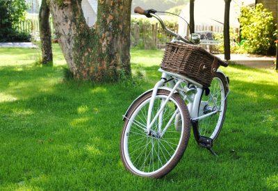 vélo peinture blanche