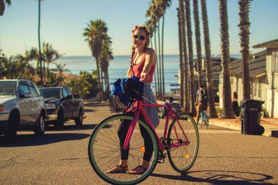 vélo couleur rose